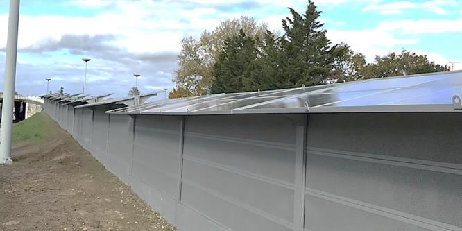 Achèvement de notre chantier d'écran acoustique photovoltaïque SunScreen en bordure de l'autoroute A10